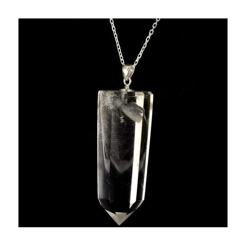 Pendentif pointe quartz fantôme