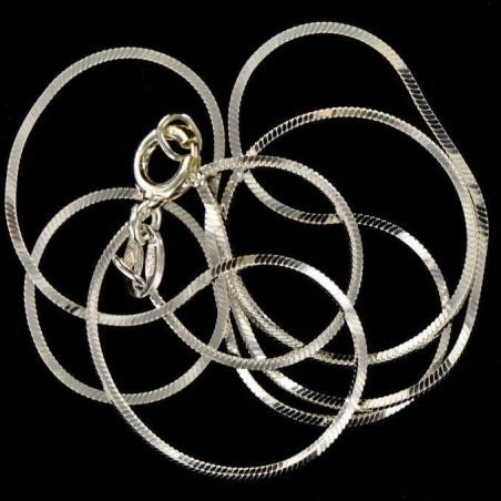 Chaîne serpentine carrée argent 925.