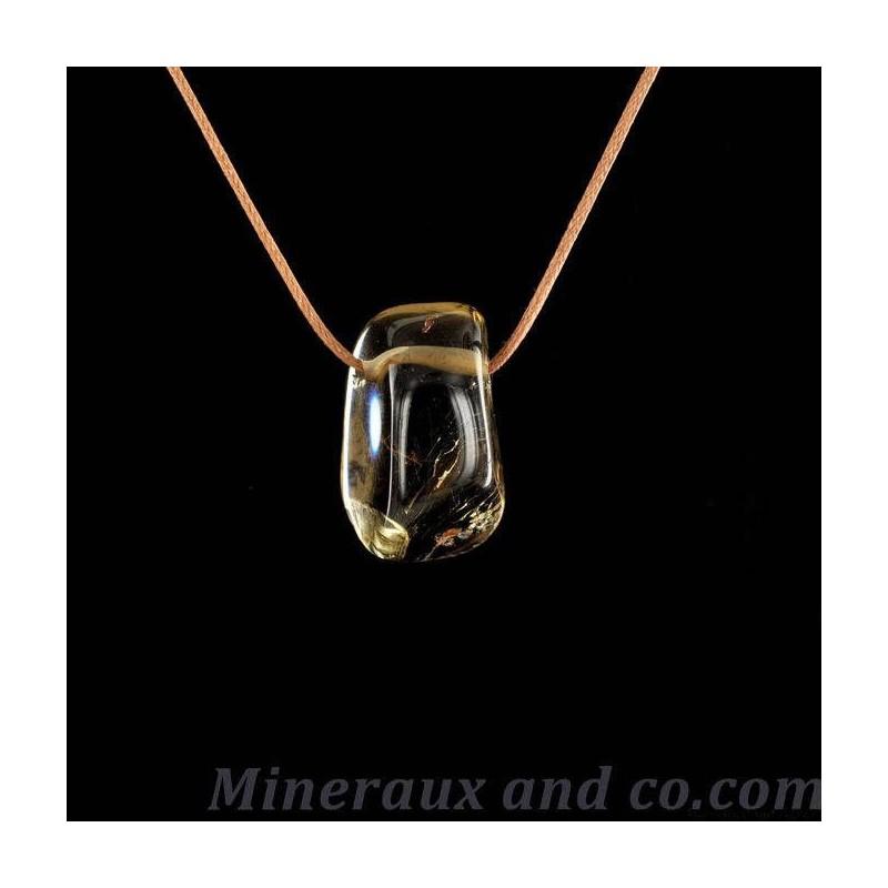 Pendentif quartz fumé