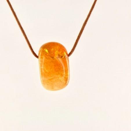 Pendentif quartz citrine.