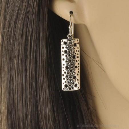 Boucles d'oreilles argent 925 tuiles.