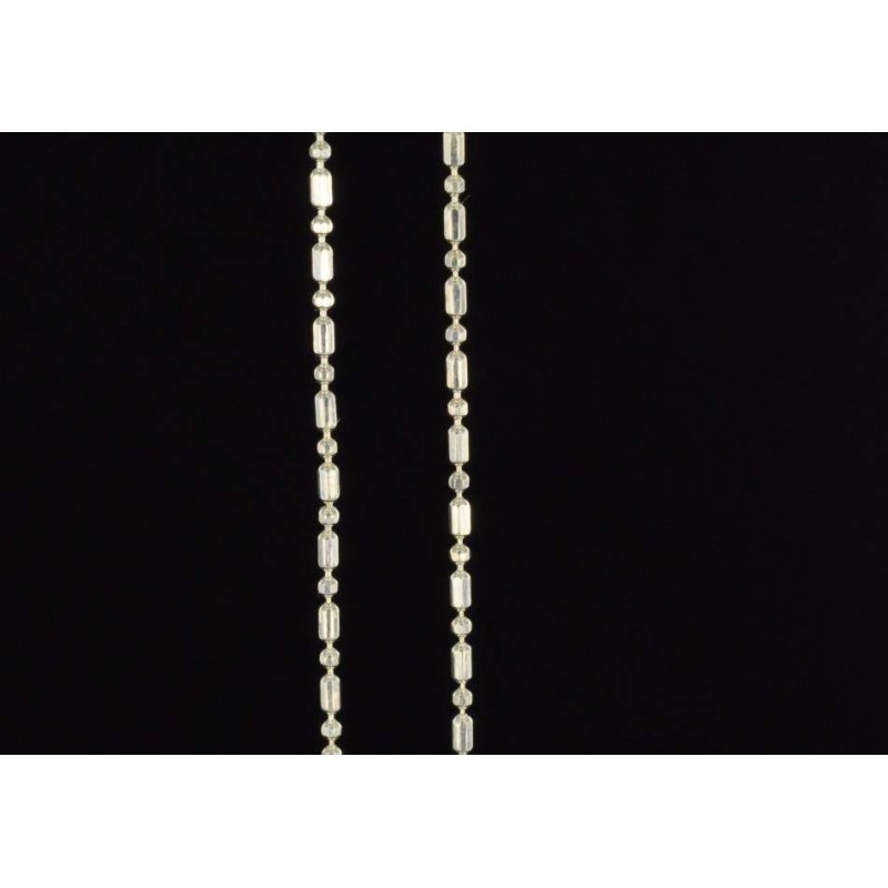 Chaînes perles et cylindres argent 925