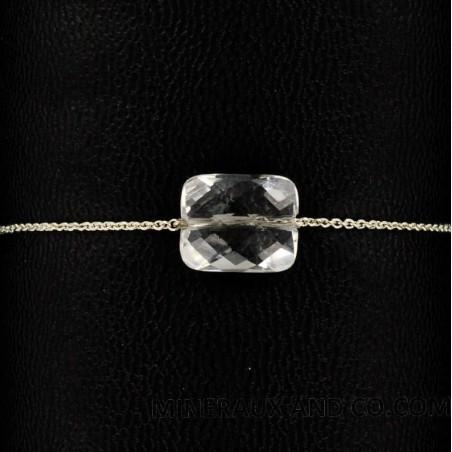 Bracelet chaîne argent et cristal